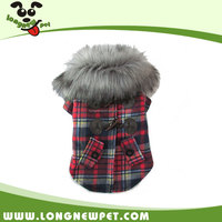 Stylish Dog Tartan Design Clothes Fashion Outfits Ful Collar Small Dog Coats