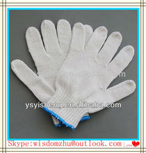 2013 new safety product for garden work machine auto knitting seamless cotton working glove for gardening workers