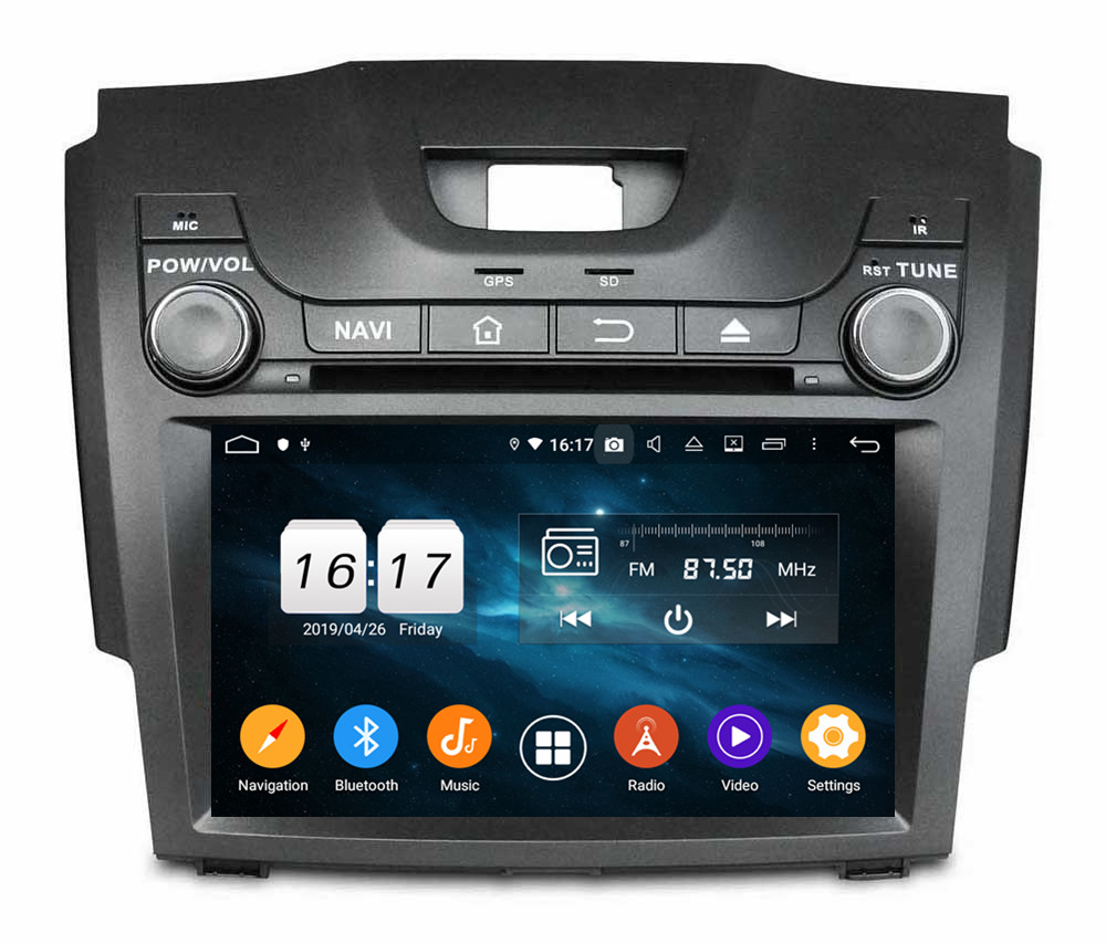 Klyde android 9 in dash car entertainment system for S10 <strong>D</strong> MAX 2013 - 2017