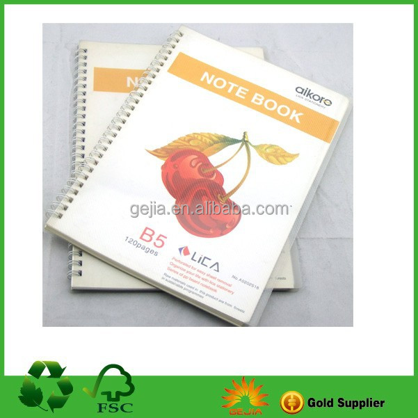 Offset Paper Print Cheap Spiral Notebook Wholesale