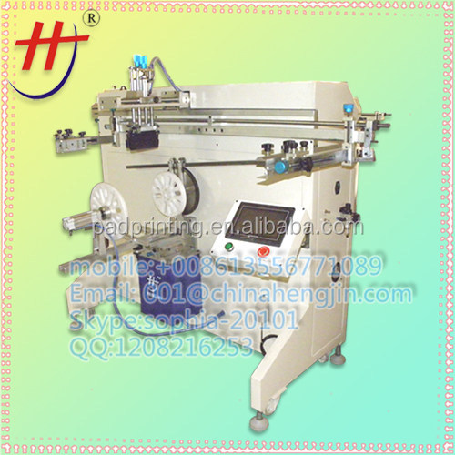 hot sale special price HS1000RM paint bucket or pail silk screen printer for one color design with stepping motor