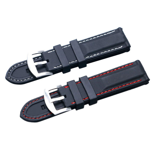 22mm 24mm Silicone Watch Band High Quality Wristwatch Strap  JD010