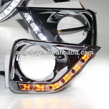 Vertiga Mark X 2 REIZ 6pcs LED DRL Daytime Running Light with LED Turn lights 2010-2012 Year V2