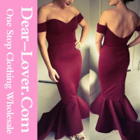 Vintage Maroon Off the Shoulder Sexy Mother of the Bride Dress Free Photos