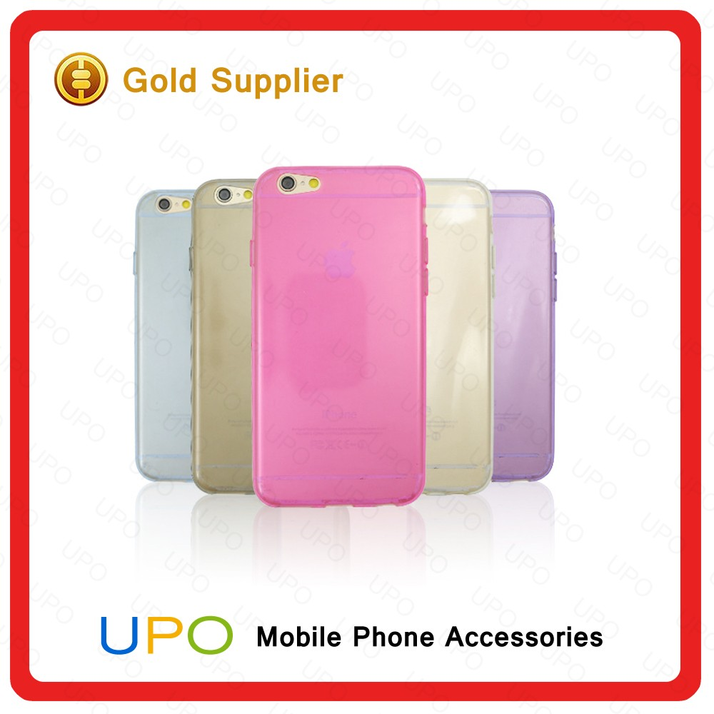 [UPO] Hot selling Custom Ultra Thin Gel Soft Clear TPU Back Cover transparent phone case for iphone 6