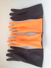 China rubber manufacturer Black Rubber industrial glove