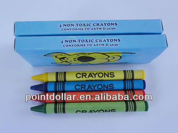 4 Colors(Red/Blue/Yellow/Blue) Crayon Wax Multi Colored Crayon Set