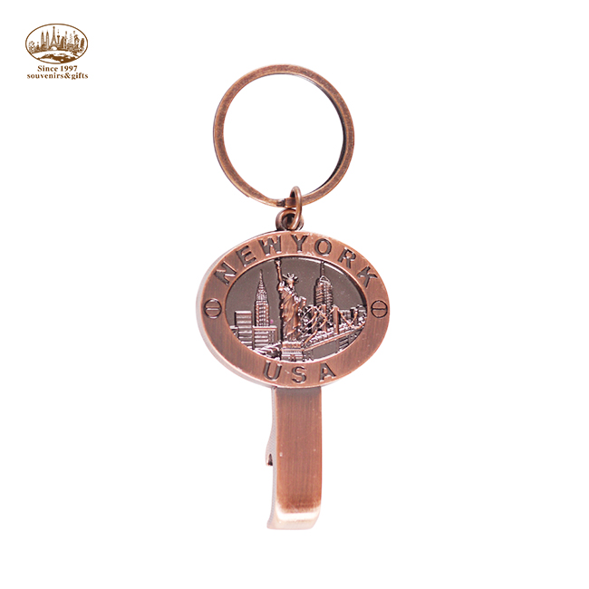 High quality custom shape model New York souvenirs bottle opener <strong>key</strong>
