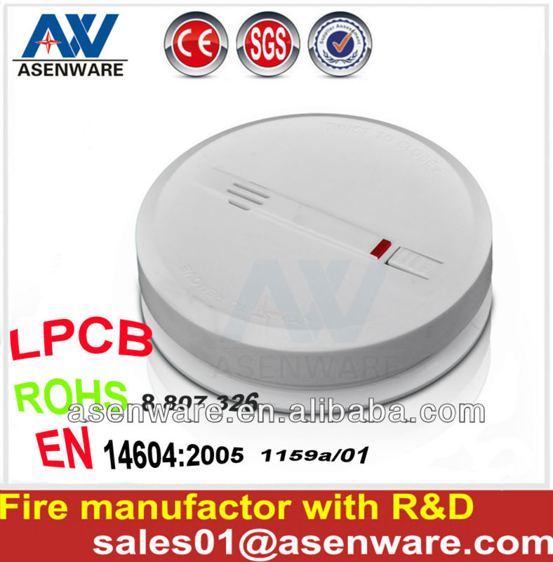 US hot!! LPCB Portable Wireless Smoke Detector with Battery