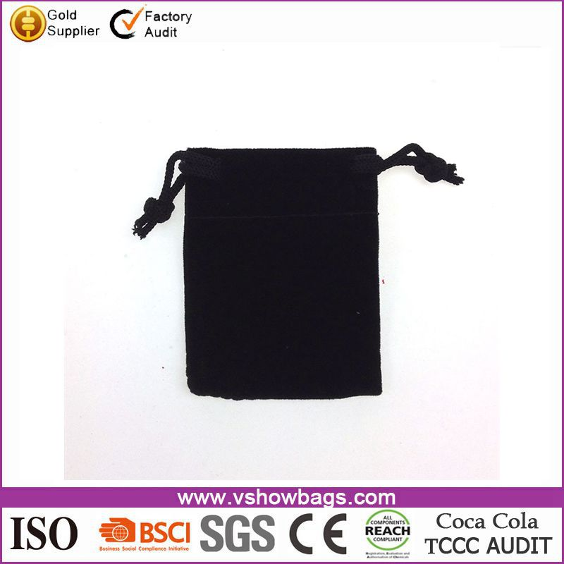 Pull on the rope beam plant flannelette bags 5 x7cm <strong>black</strong> accessories jewelry bags