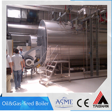 ASME and ISO9001 Approval Small Gas Oil Heaters Hot Water Boiler