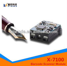 X-7100 CCD Imaging Mini Barcode Scanning Module with high sensitive liner image sensor