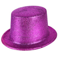 Happy New Year plastic glitter top party hat for adults