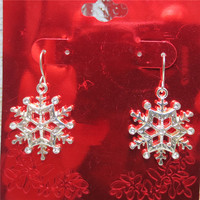 Wholesale Christmas Jewelry Snowflake Dangle Earrings
