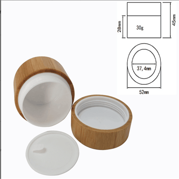 30g 50g 100g 200g luxury bamboo jar cosmetic personal care cream pp inner wood jar with bamboo lid