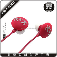 factory offer sport earphone, earphone with mic, silicone earphone rubber cover