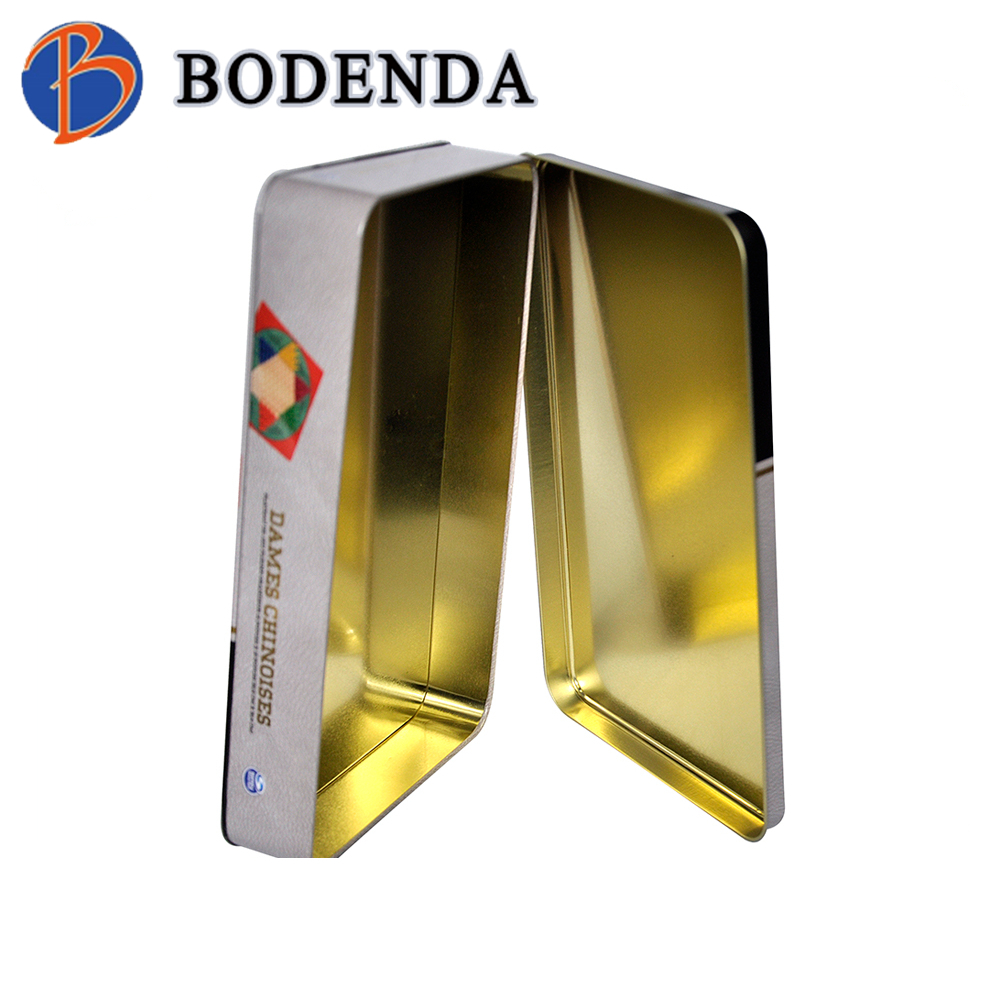 Wholesale Custom Printed Metal Hinged metal tins