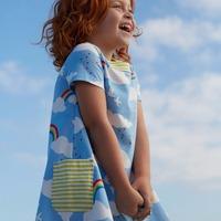 Children summer dress, kids clothes girl's Casual dress kids high end cotton wear
