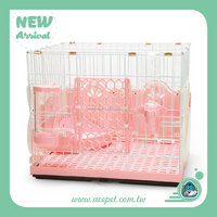 610-SR Taiwan design Rabbit-Style Fences Pink Rabbit Cage,indoor pet cages