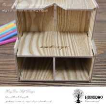 HONGDAO wooden pen container