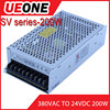 Hot sale 200W 380VAC to 24VDC8.3A auto switching power supply