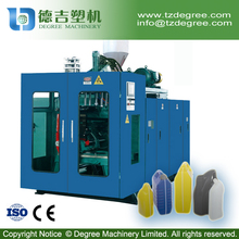 Automatic plastic hdpe bottle manufacturing machine with double station