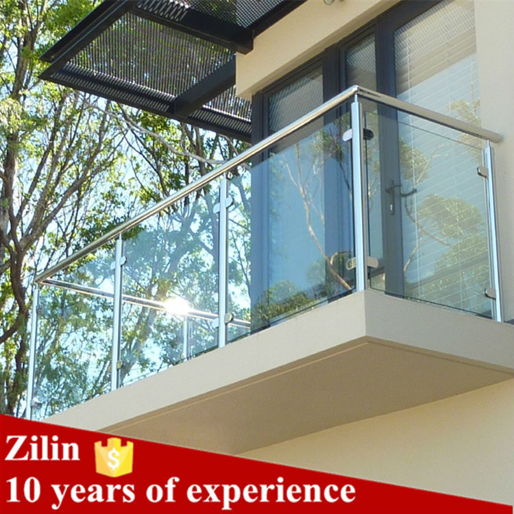 Stainless steel glass balcony railing designs free buy for Balcony glass railing designs pictures