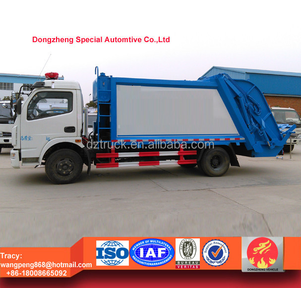 6000L Dongfeng compression garbage truck 6T dustcart for sale