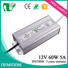 Waterproof LED power supply driver IP67 12v led driver