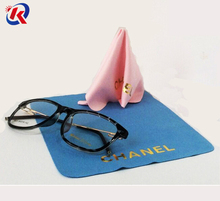 chinese factory bulk microfiber cloth for glasses cleaning with OEM brand