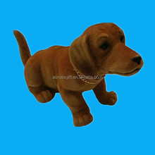 polyresin nodding bobble head dog with moving head for sale