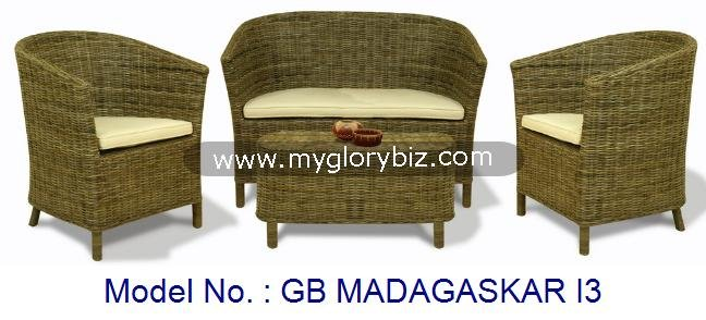 Modern Rattan Sofa Set Furniture With Stylish Designs For Living Room Indoor Furnishing