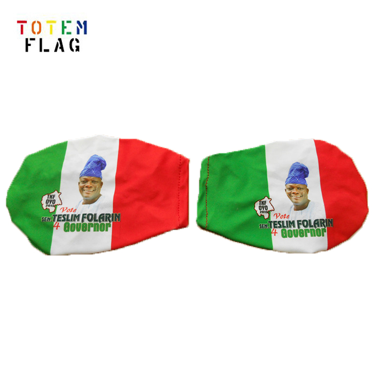 Weather <strong>Resistance</strong> Spnadex Polyester Italian flag car mirror cover set