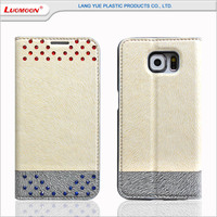 Mixed Color Crystal Leather Cell Phone Case for Galaxy S6 S5 S4 note 2 3 4 5