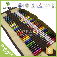 anti dumping kids color pencil set with roll up