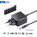 18W Universal External Switching Power Supply With CE TUV GS FCC Certificates
