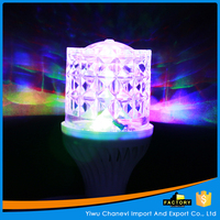 Beautiful Crystal bulb lamp Mini LED Rotating Stage Lighting for crafts