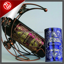 Brand design high quality multi-color relief printing lable sticker wine bottle label
