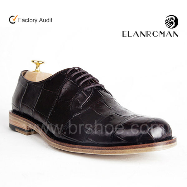 Supply Clients design Upscale classic men crocodile leather shoes