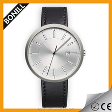 Brush finishing casing sunray dial quality metal index mens watches top brand