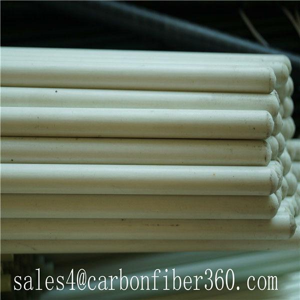 Blanco fibra de vidrio barra de la cortina poste frp barra - Barras de fibra de vidrio ...