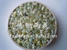 swimming pool decoration glasss green tumbled gravel pebble