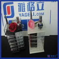 Yageli Acrylic Spinning Lipstick Tower with Top Tray Color Black&White Wholesale