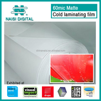 60mic glossy pvc photo cold lamination film in roll