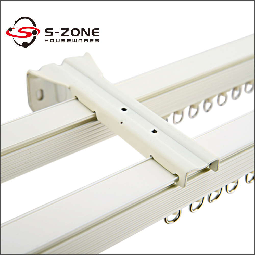 Ceiling mount curtain track system