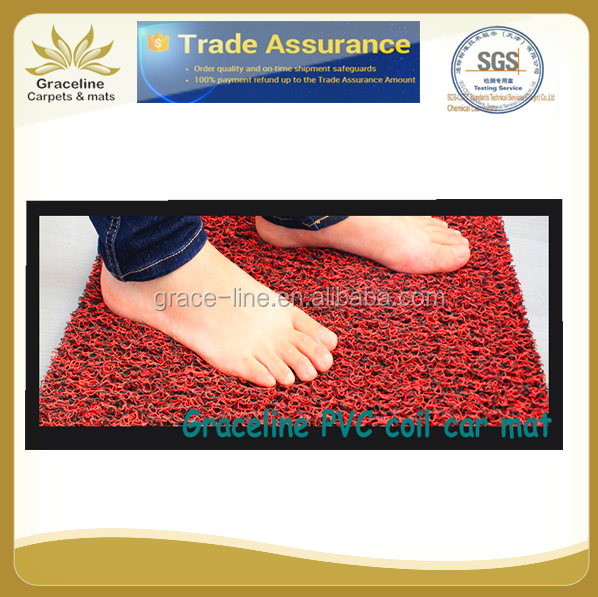 PVC spike backing plastic coil floor mat car carpet roll