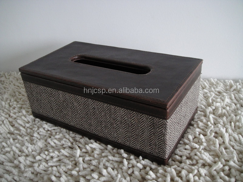 Rectangle tweed tissue box