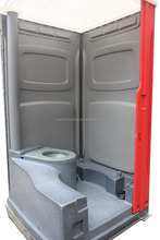 Rotomolding seated mobile toilet for construction site