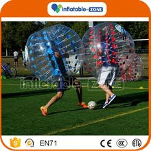 Best quality 0.7mm inflatable soccer bubble/half color bubble soccer for adult bubble soccer gif for fun