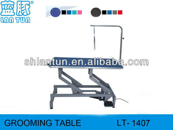 Dog lift grooming table
